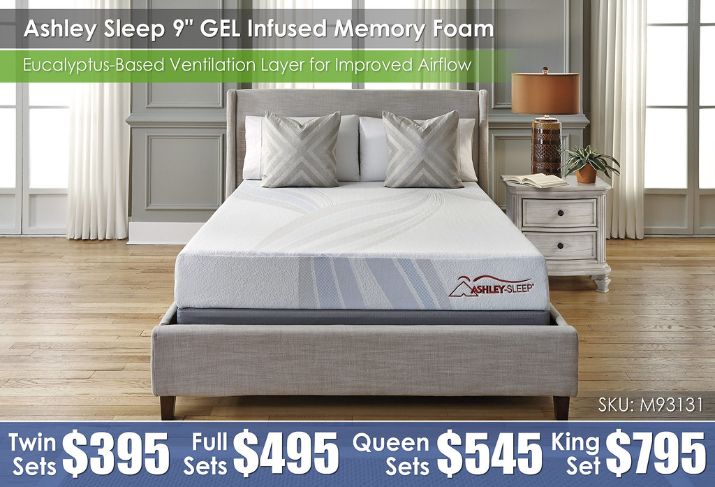 M93131 Ashley Sleep 9in Gel Infused Memory Foam