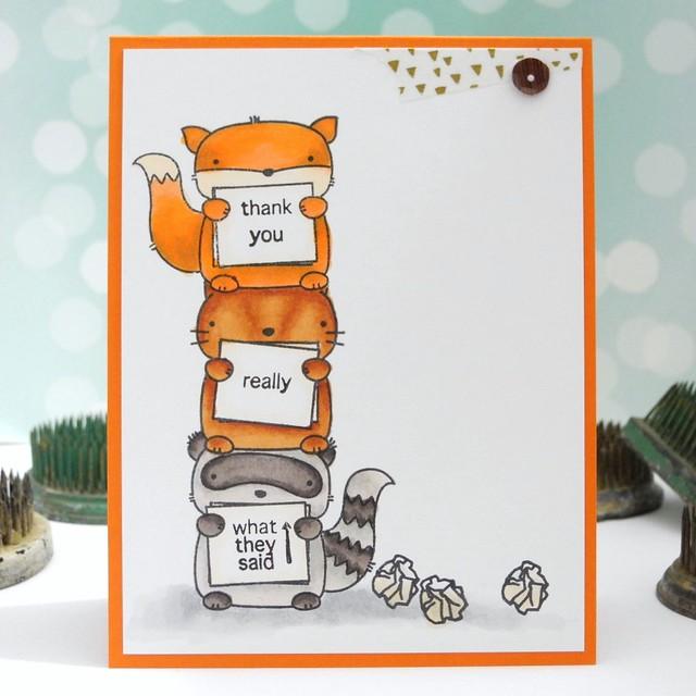 What They Said by Jennifer Ingle #cardmaking #mamaelephant #spectrumnoir #copic