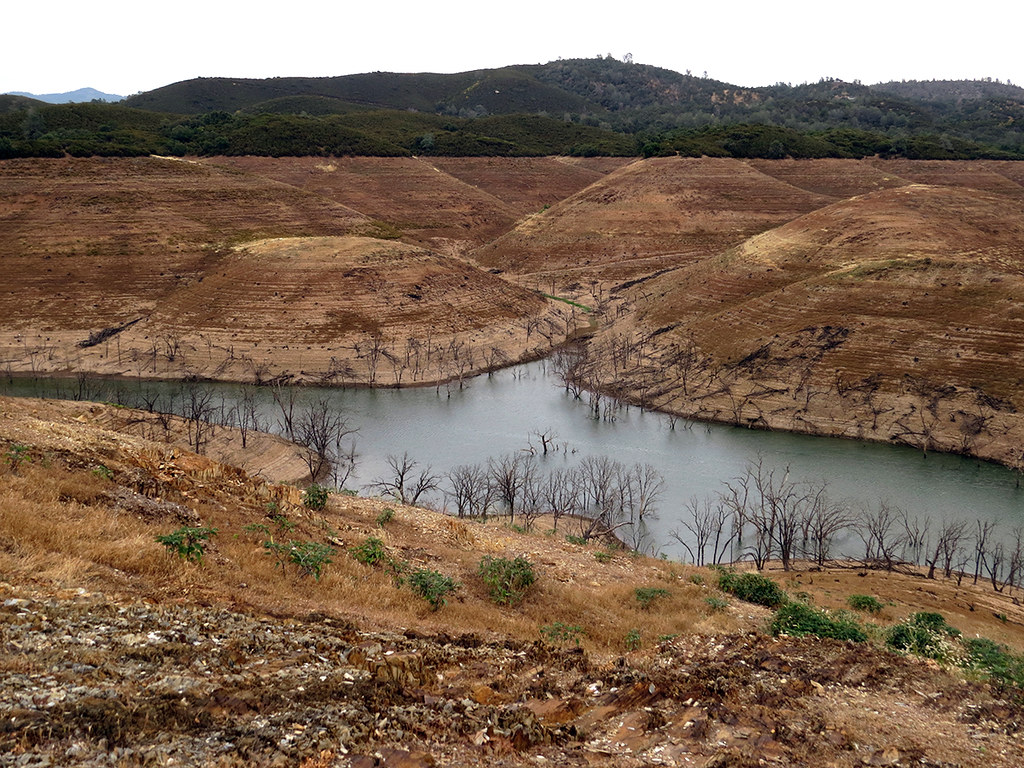 What remains of New Melones Lake | by Ben Amstutz