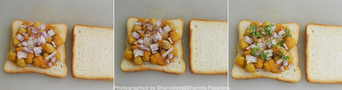 Grilled Chana Masala Sandwich Recipe - Step2