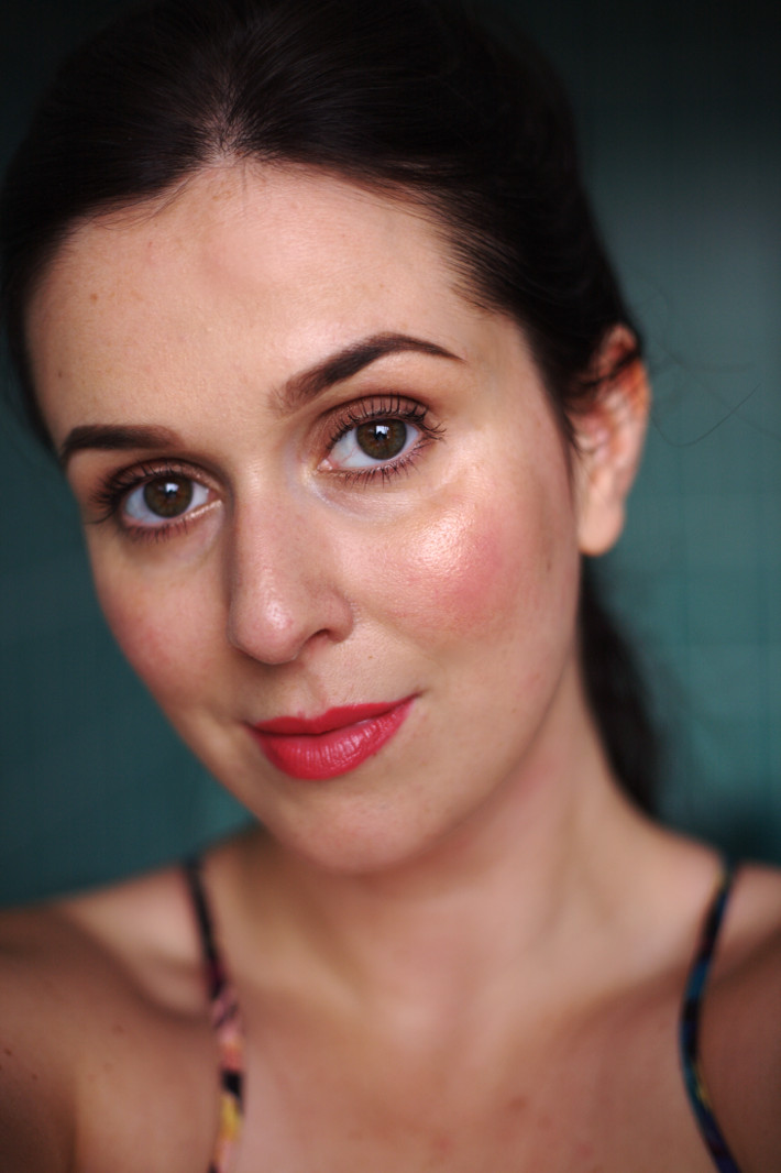 bright matte lipstick: NYC Expert Last in Pure Coral review