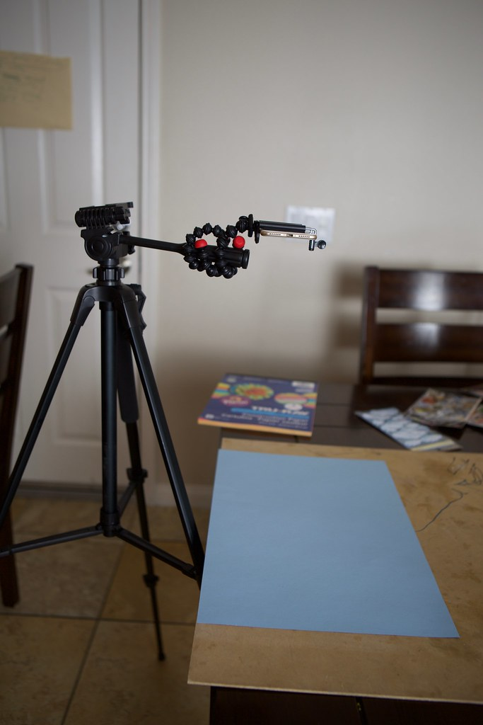 How to mount camera for stop motion video