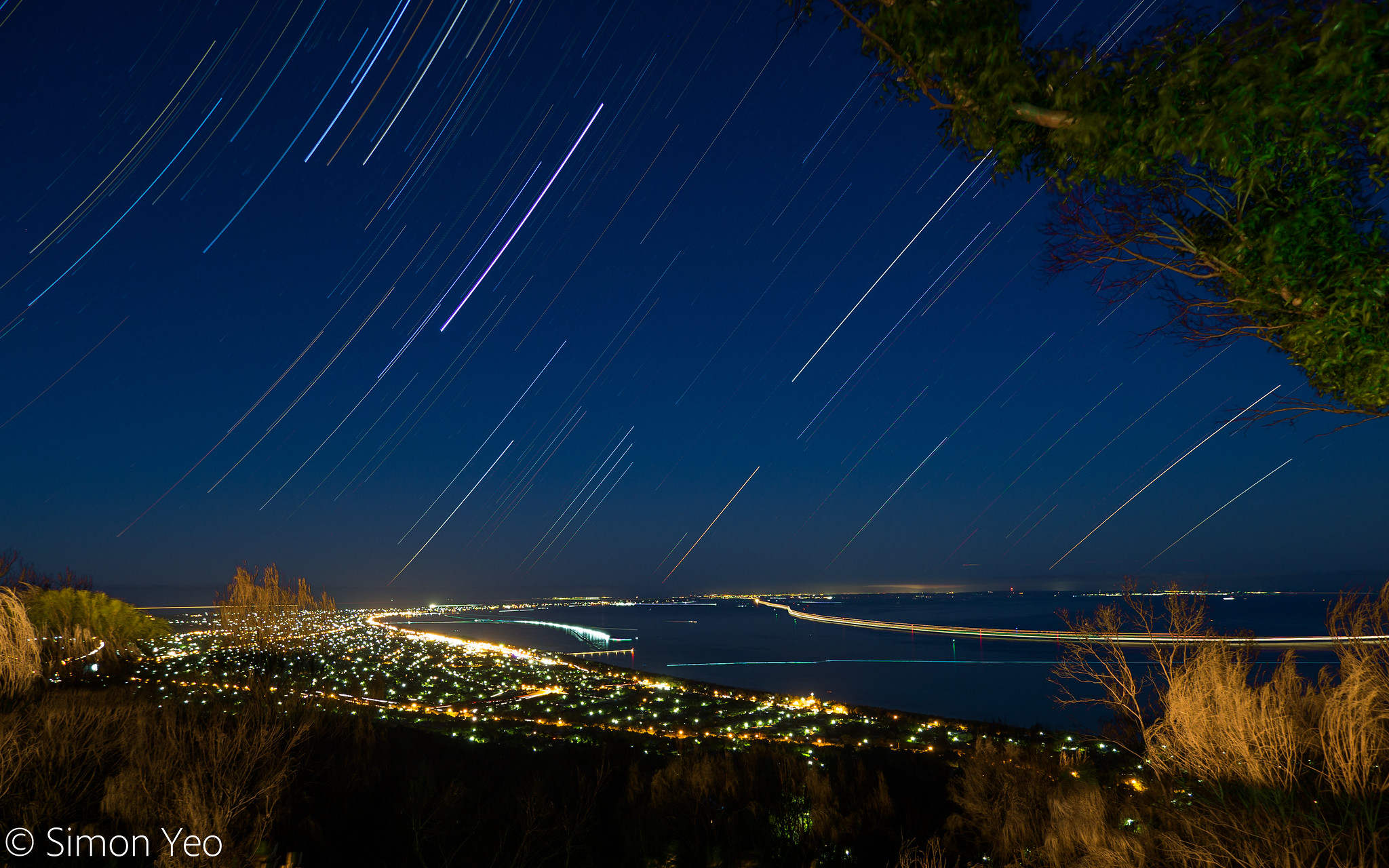 Peninsula Star Trails from Arthurs Seat by Simon Yeo on Flickr