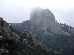 Le Castedducciu depuis le 1er promontoire rocheux de Quarciteddu