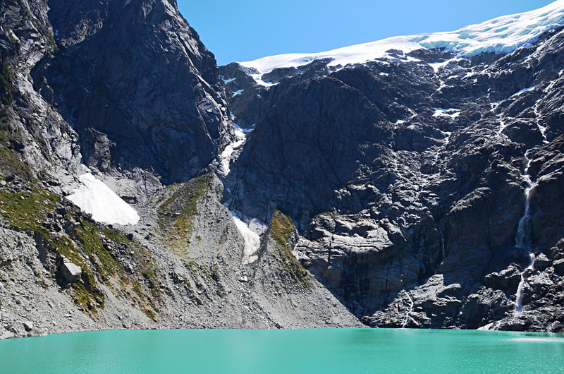 Glacier and lake, Enchanted Forest, Quelat, Chile