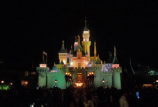 Disneyland Hongkong - Sleeping Beauty castle night
