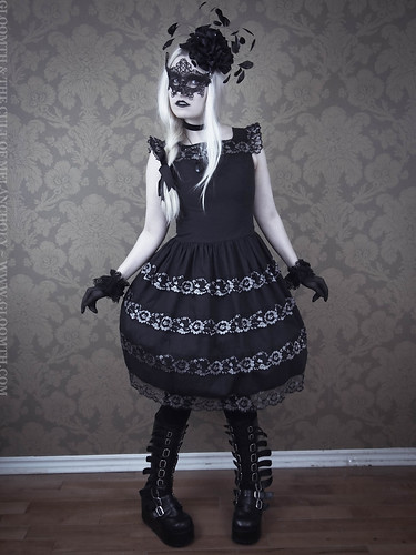 gothic masquerade prom dress gloomth