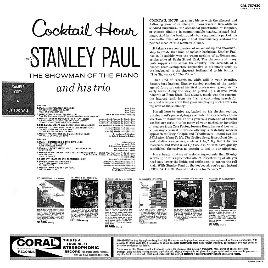 Stanley Paul - Cocktail Hour b