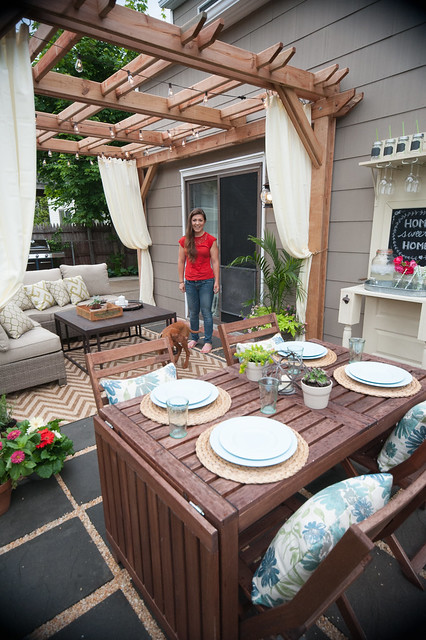 Outdoor Living Room Makeover for Small Spaces with Lowes ... on Lowes Outdoor Living id=75252