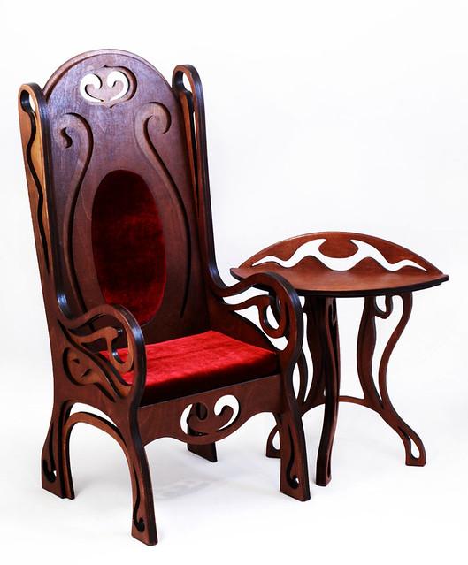 Takumi chair m.06 & tea table m.03