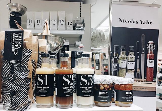 NicolasVaheHelsinkiSokosTuotteet, nicolas vahé, helsinki, suomi, finland, ostokset, shopping, sokos, brand, merkki, tuotemerkki, tuotteet, products, coffee syrup, kahvisiirappi,
