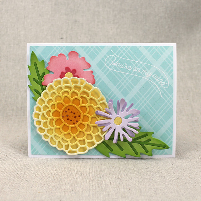 Floral You're On My Mind Card