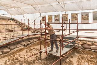 Guide Michael im Grabungsgelände West Coast Fossil Park