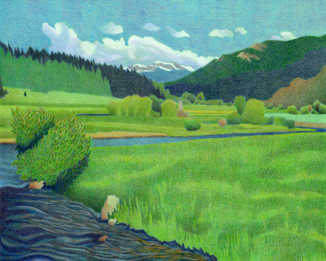 Upper Bear Creek. Artist Dan Miller