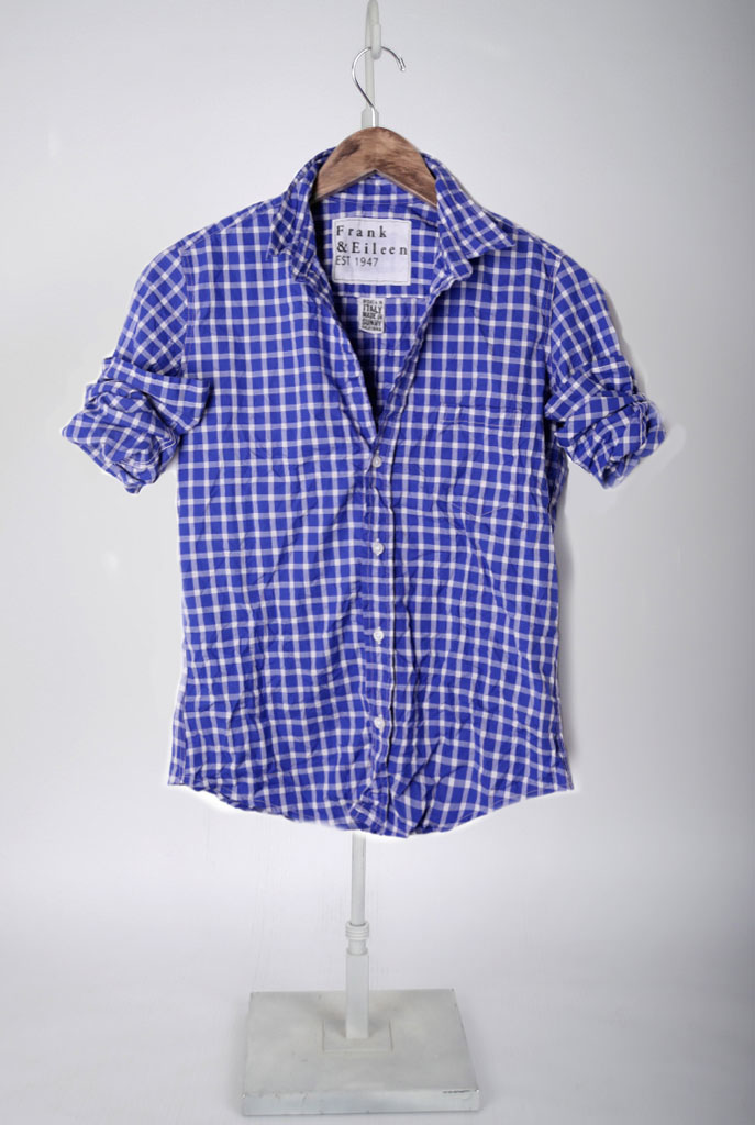 The Barry Shirt - Royal Blue and White Large Check