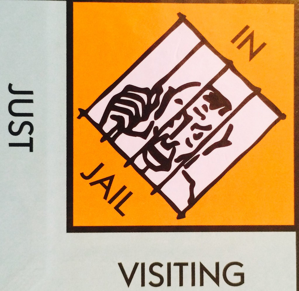 in jail just visiting monopoly board hi guys if you