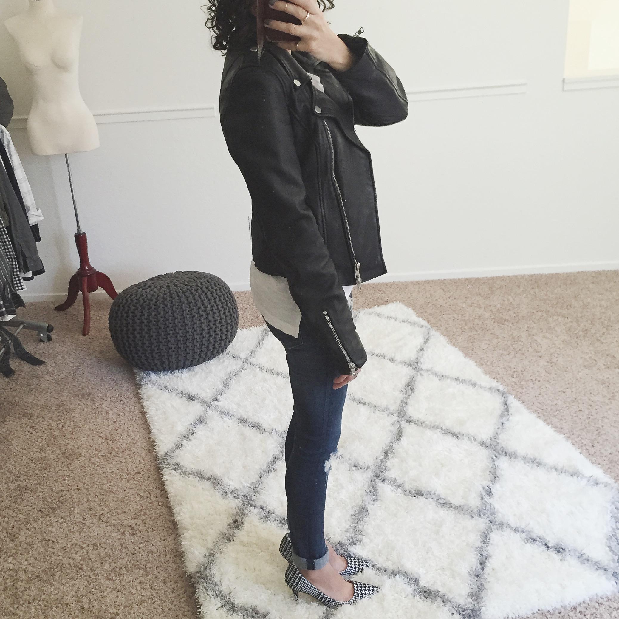 Leather jacket xs - Zara Trf Leather Biker Jacket Size Xs