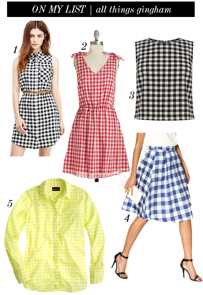 on my list gingham print
