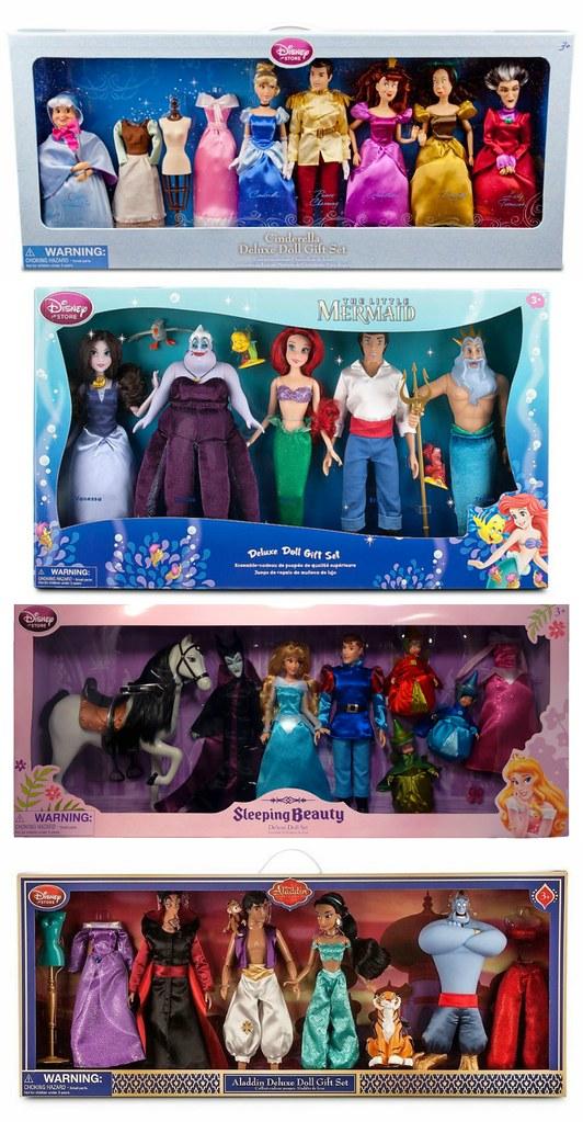 Disney Store Deluxe Doll Gift Sets 2012 2015 Diamond Rele