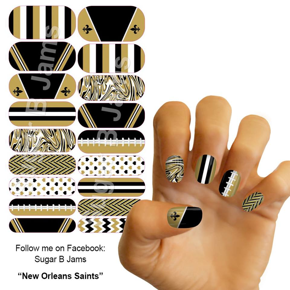 New Orleans Saints | My personal custom Jamberry nail wraps.… | Flickr
