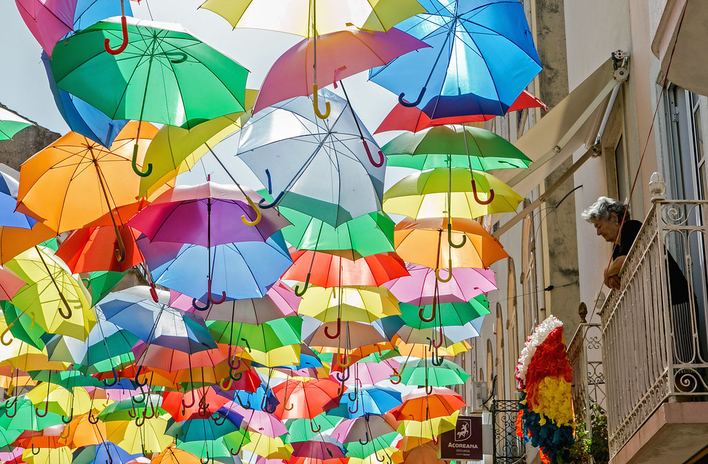 The sky is full of umbrellas | The Umbrella Sky Project by ...