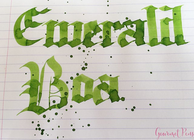 Ink Shot Review Bookbinders Emerald Boa @AndersonPens 9