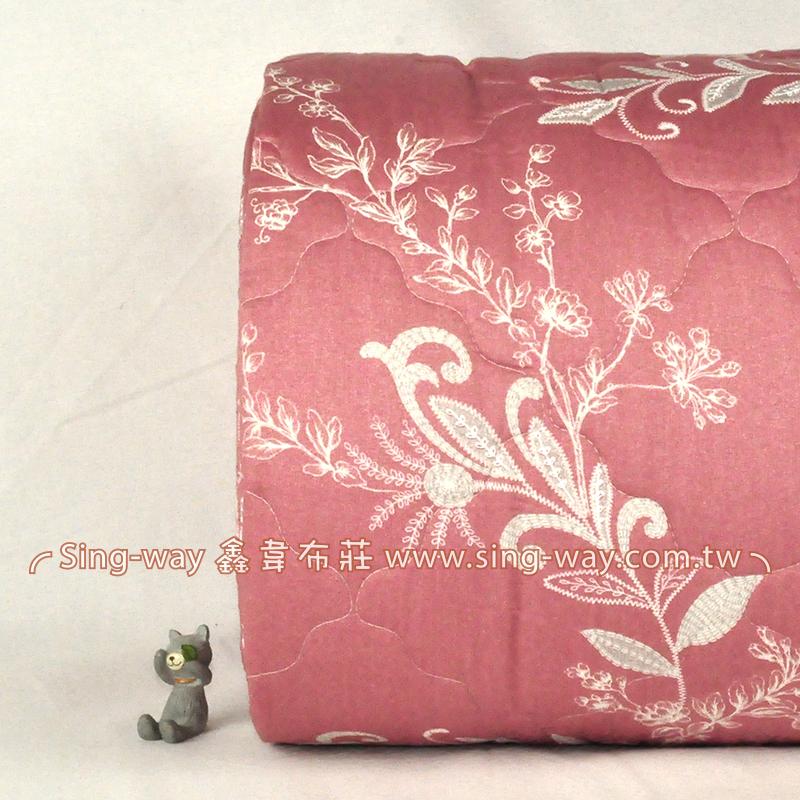 【限宅配】 重粉底戀戀花語 優美花卉 精梳棉鋪棉床品床單布料 B990086