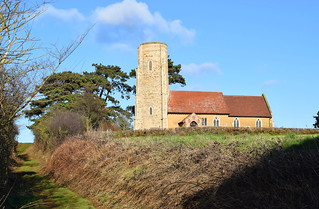 Ramsholt church and sunken lane