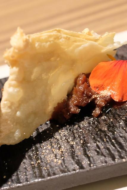 生彩八寸 季節の前菜 揚げ湯葉とエゾ鹿味噌