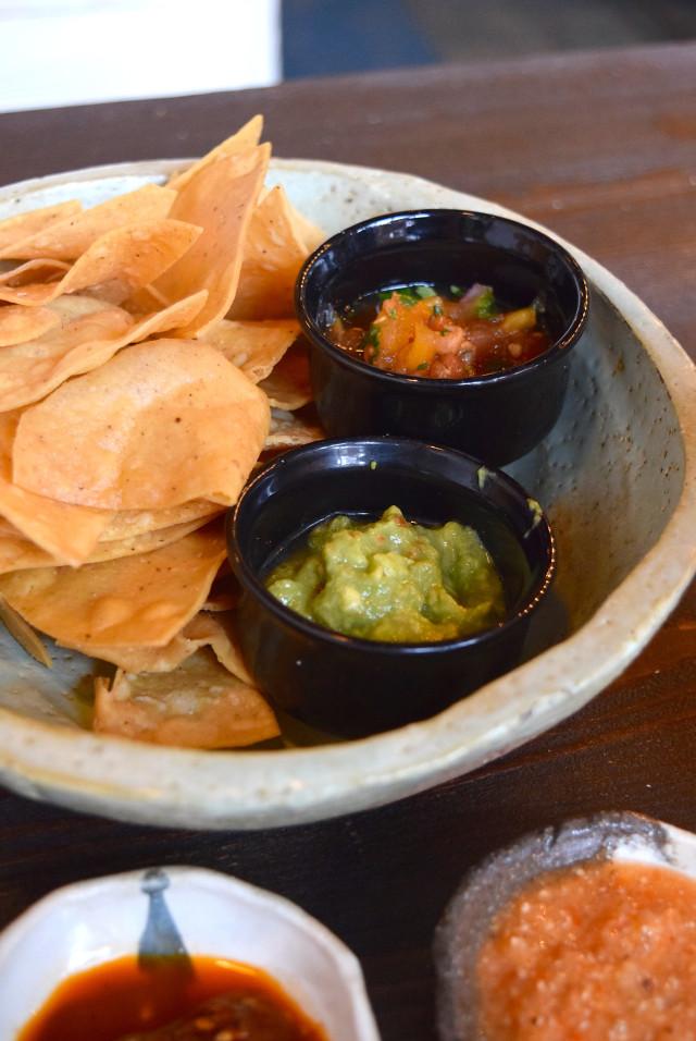 Chips with Salsa & Guacamole at Breddos Tacos, Clerkenwell | www.rachelphipps.com @rachelphipps