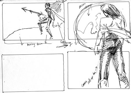 Anime Storyboard  This And All The Other Sketches In This C  Flickr
