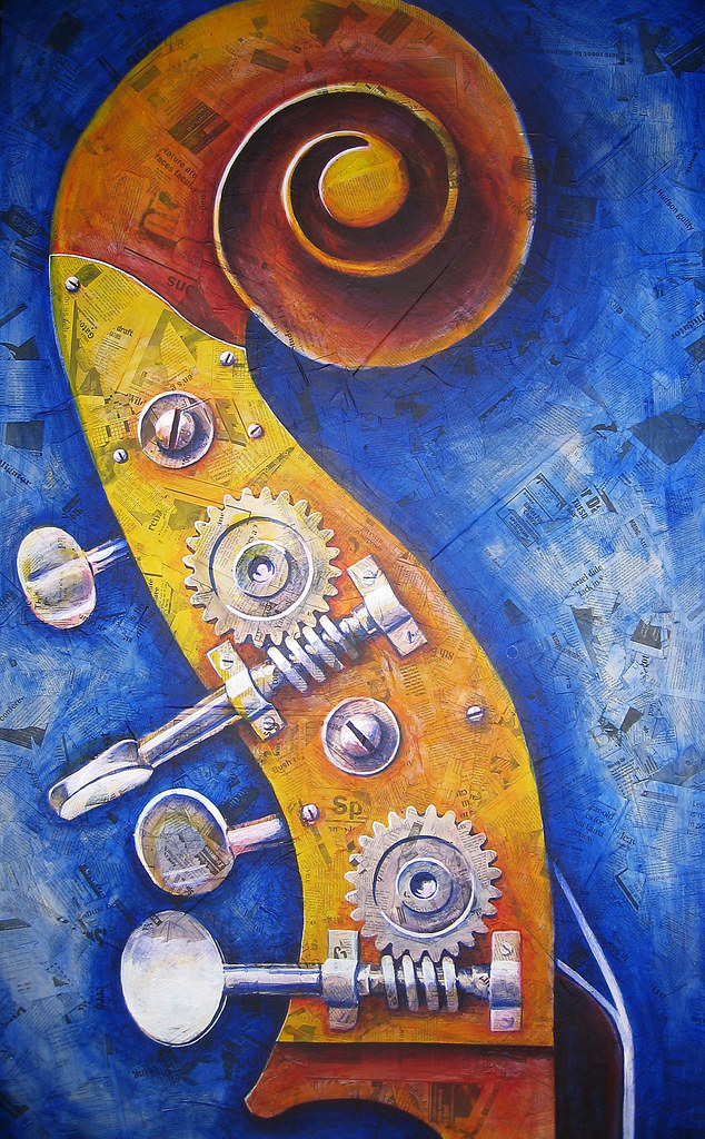 Upright Bass Painting ...