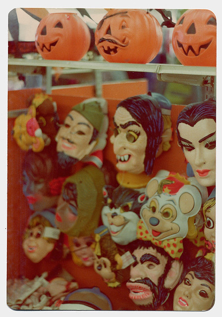 halloween masks of the 1970s by richard sala