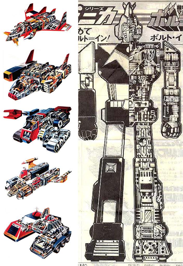 Voltes V Cartoon Characters : Voltes v mecha robot voltron is a copycat