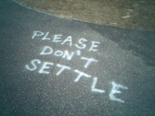 Citywords: Please don't settle | by Catjerome