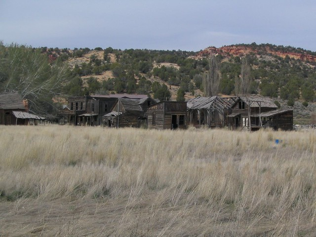Old Movie Set for Gunsmoke, Johnson Canyon Road Near Kanab ...