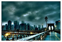 Dark City - from the Brooklyn Bridge | by Arnold Pouteau's