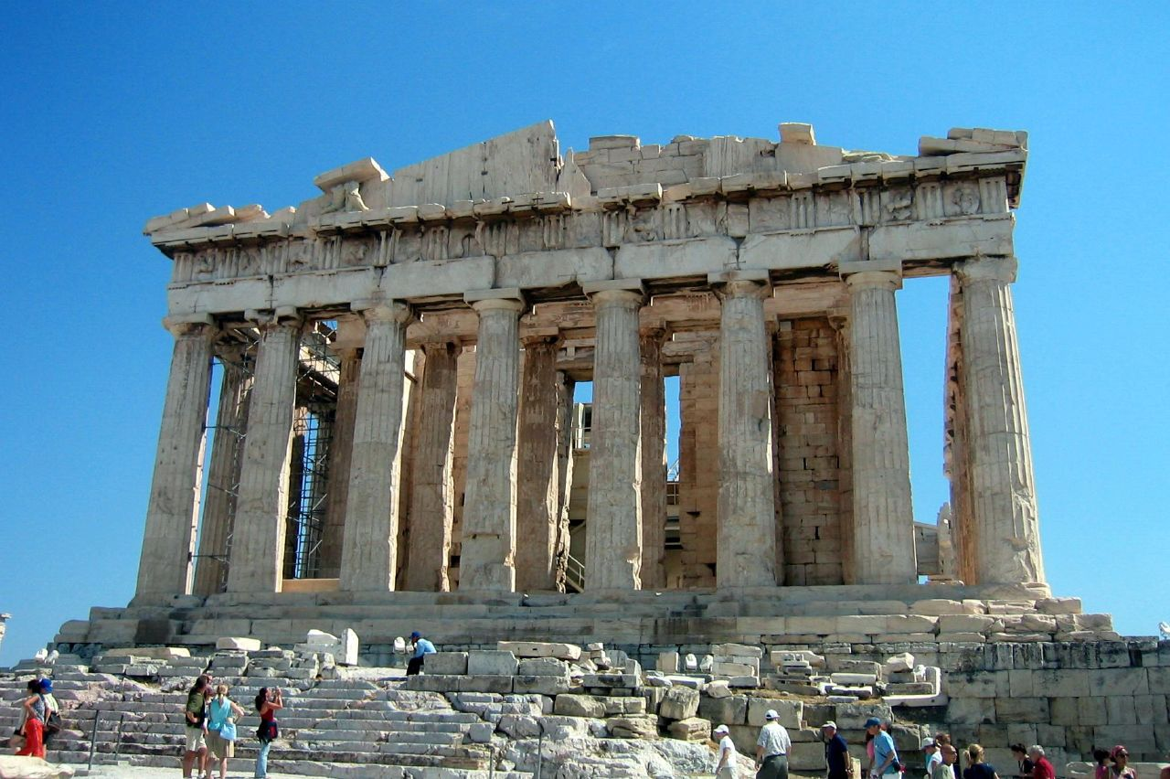 Athens - Acropolis: Parthenon (West Side)