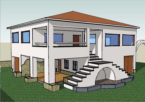 A house made with sketchup una casa cualquiera hecha con for Las mejores fachadas de casas