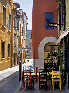 Rita Crane Photography:  Collioure / France / buildings / restaurant / street / bicycle / L'Andalou, Collioure (French Catalonia) | by Rita Crane Photography