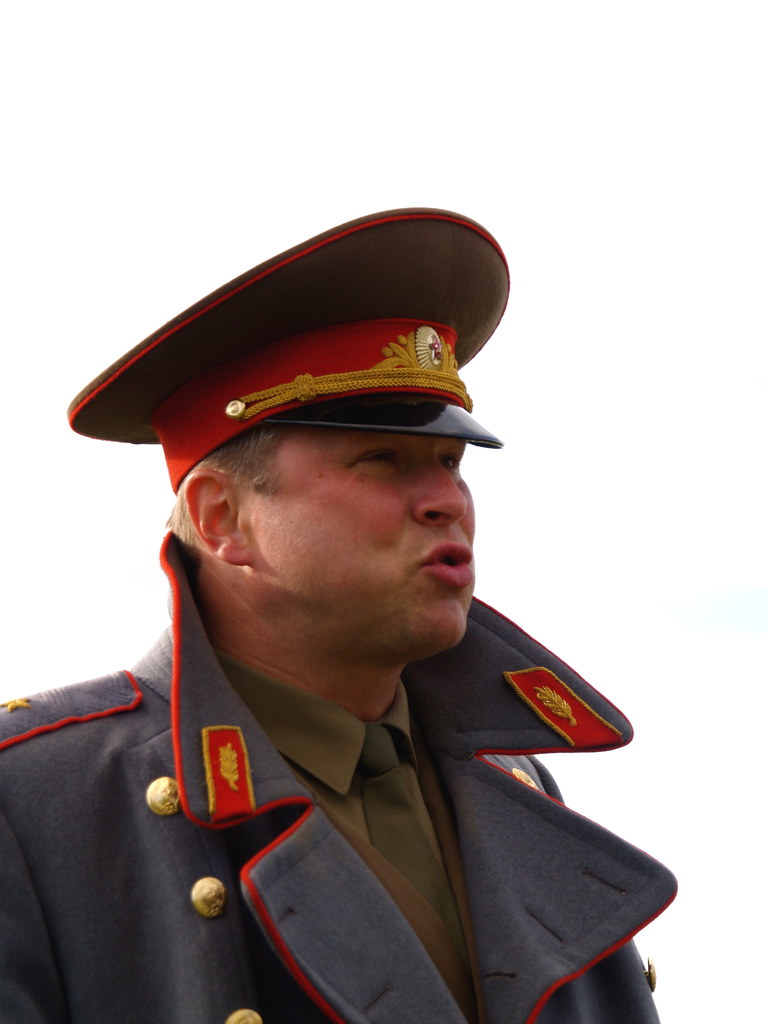 Soviet general   Sten playing the role of a Soviet general ...