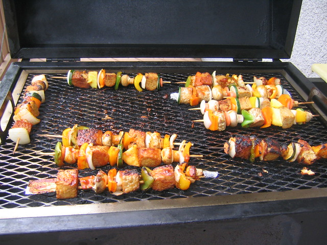 Grilled Tempeh Kabobs Tempeh Kabobs on The Grill