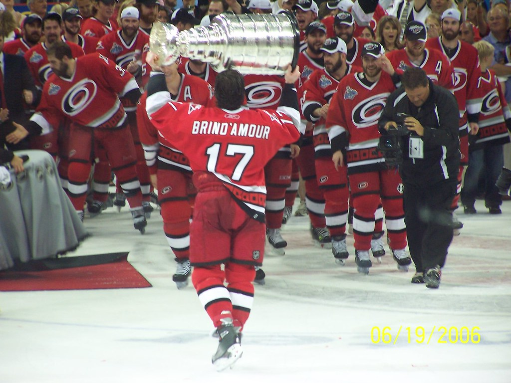 Captain Rod Brind'Amour with the Stanley Cup | Game 7 ...