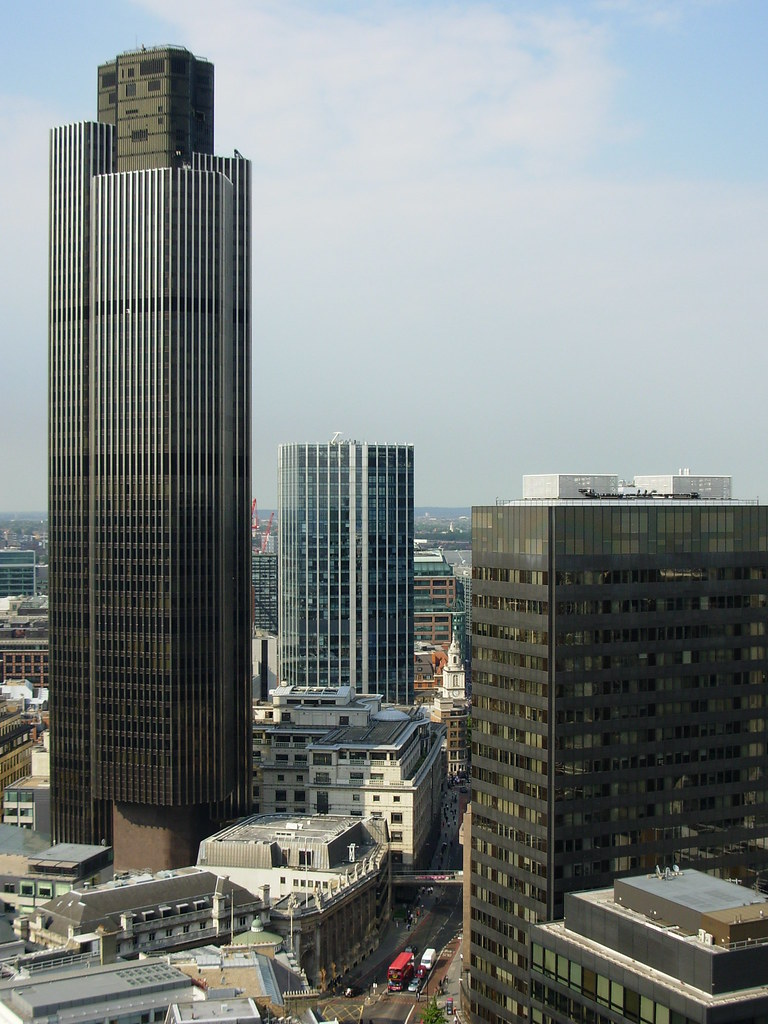 Tower 42 City Of London From The Roof Of 54 Lombard