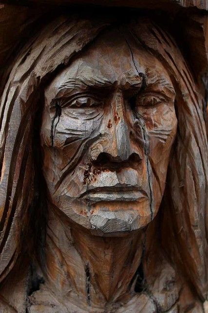 Wood Carving American Indian Wood Carving Of An