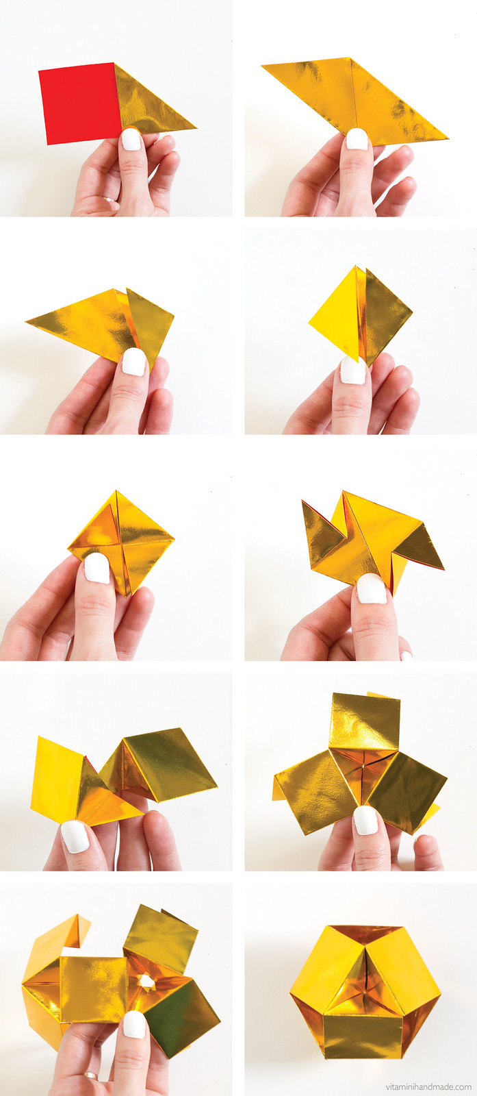 DIY Origami Gemstone | click through for the tutorial!