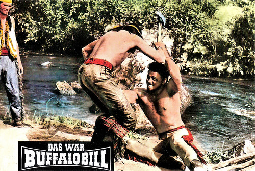Gordon Scott and Mirko Ellis in Buffalo Bill, l'eroe del Far West (1965)