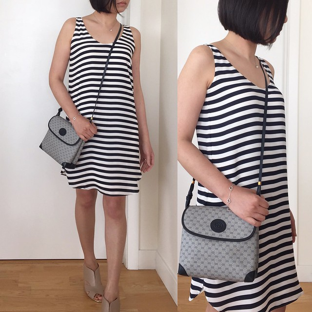 阁楼Striped Shirttail Tank Dress, size XSP