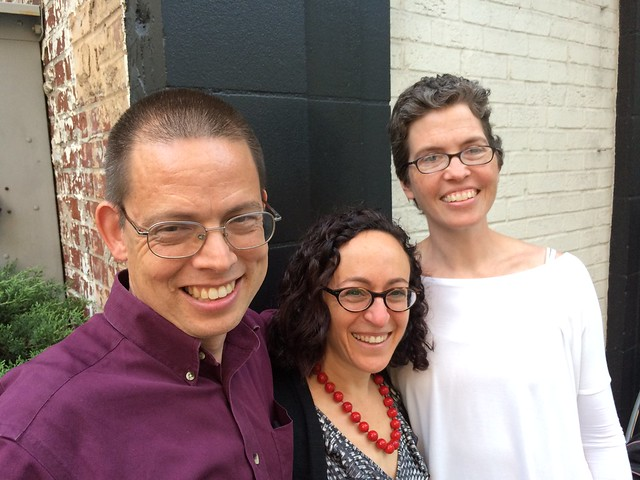 George, Rachel, and me