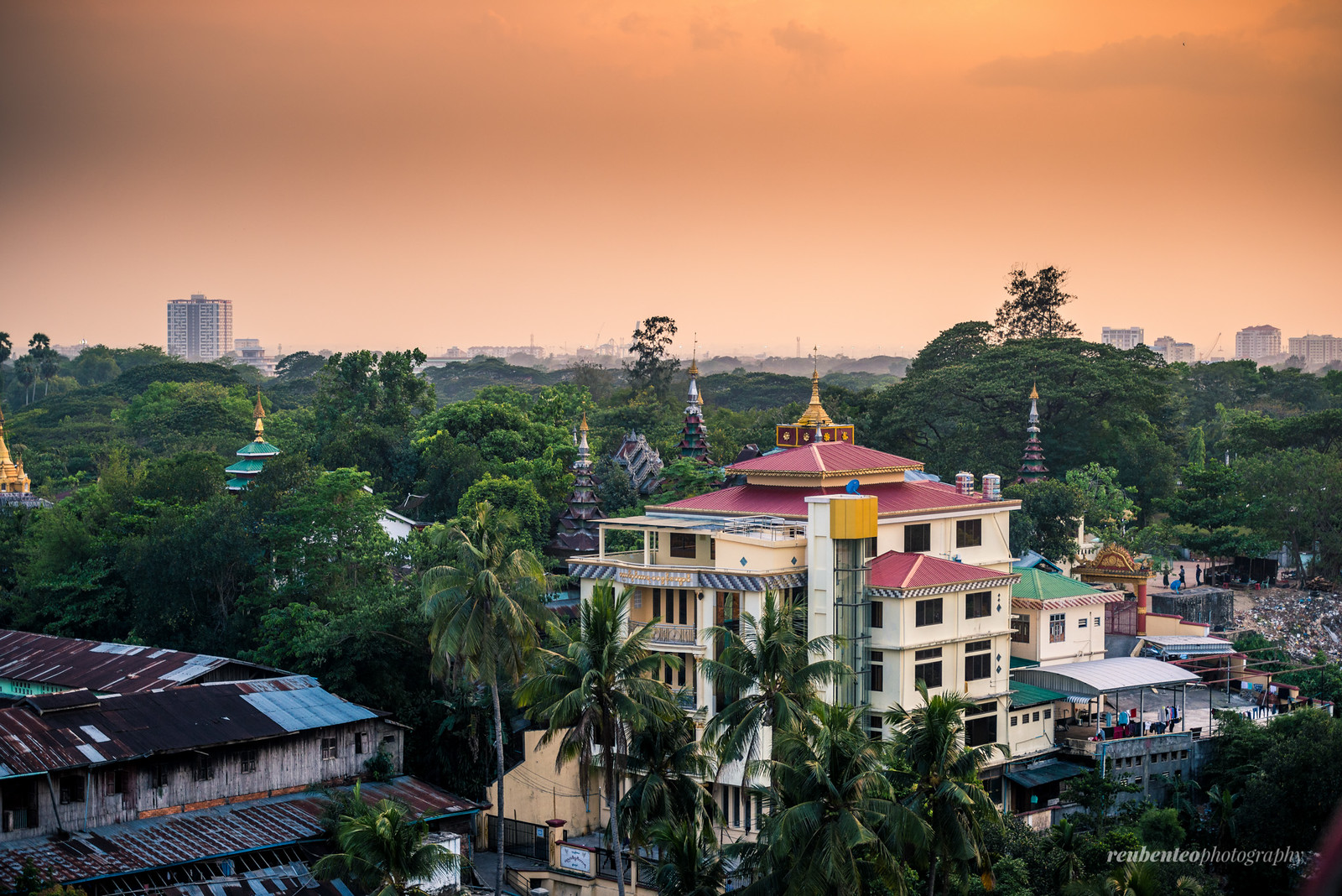 Yangon at Sunset